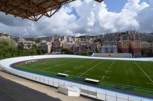 lo stadio Carlini ristrutturato, il nuovo campo sintetico